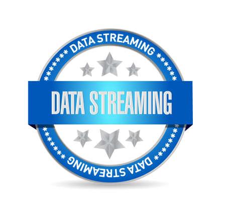 storage device: data streaming seal sign concept illustration design graphic Illustration