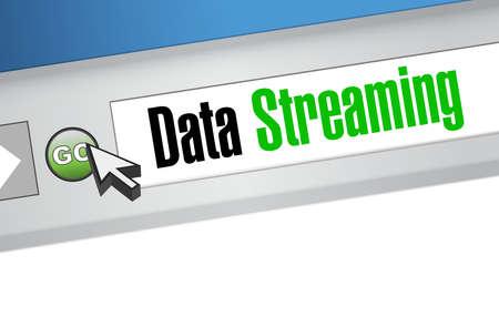 storage device: data streaming website sign concept illustration design graphic Illustration
