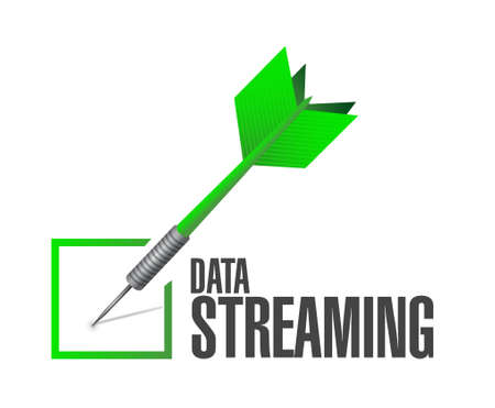 streaming: data streaming check dart sign concept illustration design graphic