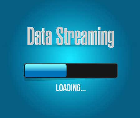 streaming: data streaming loading bar sign concept illustration design graphic
