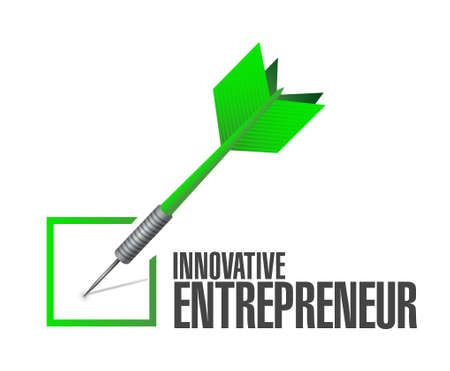 owner money: innovative entrepreneur check dart sign illustration design graph
