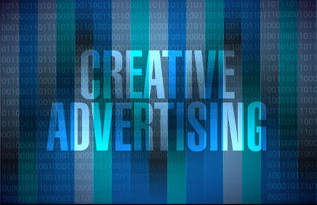 concept design: creative advertising binary background sign illustration concept design graphic