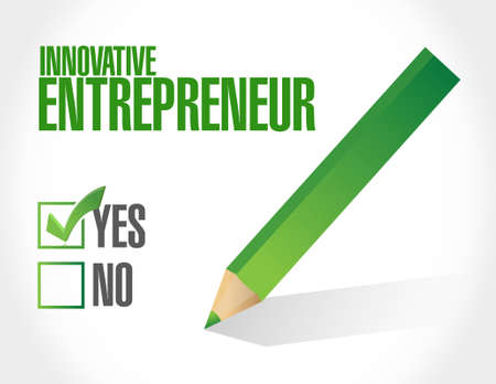 innovative: innovative entrepreneur approval sign illustration design graph
