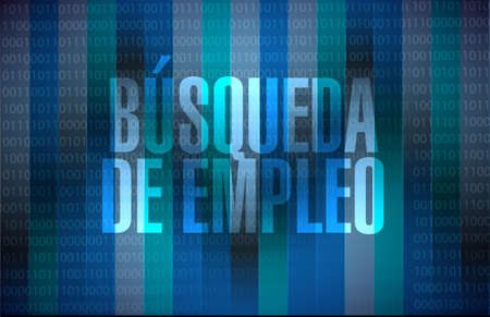 binary background: job search binary background sign in Spanish illustration design graphic Illustration