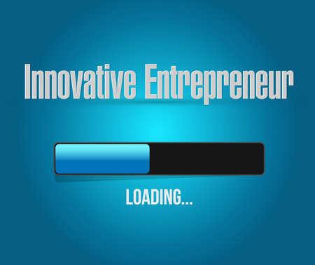 innovative entrepreneur loading bar sign illustration design graph Stock Illustratie