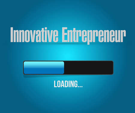 innovative entrepreneur loading bar sign illustration design graph Illusztráció