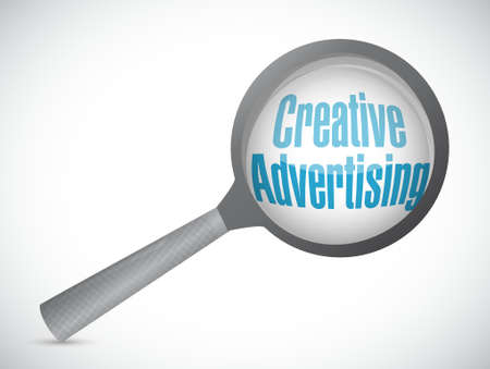 creative advertising magnify glass sign illustration concept design graphic Ilustração