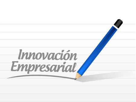 business innovation message sign in Spanish illustration design graphic  イラスト・ベクター素材
