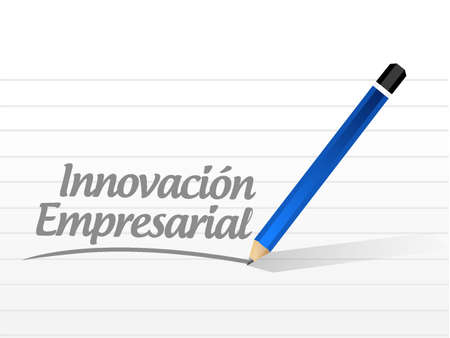 business innovation message sign in Spanish illustration design graphic Stock Illustratie