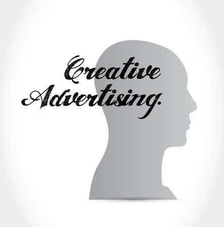 marketting: creative advertising thinking brain sign illustration concept design graphic