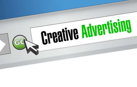 web browser: creative advertising web browser sign illustration concept design graphic Illustration