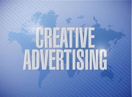 marketting: creative advertising world map sign illustration concept design graphic