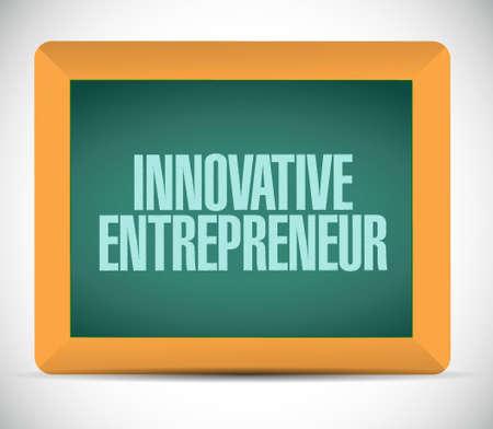 owner money: innovative entrepreneur chalkboard sign illustration design graph