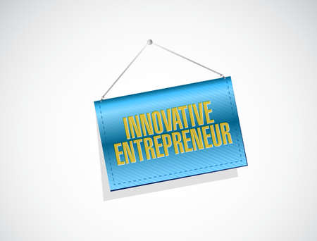 owner money: innovative entrepreneur banner sign illustration design graph