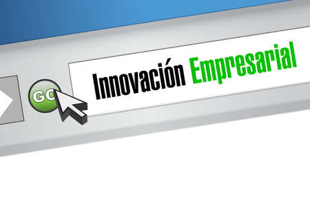 invent clever: business innovation website sign in Spanish illustration design graphic
