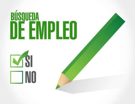job search checklist sign in Spanish illustration design graphic Illustration