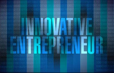 Entrepreneur innovant binaire signe de fond graphique illustration design Banque d'images - 56788810