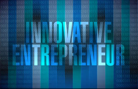 innovative entrepreneur binary background sign illustration design graph