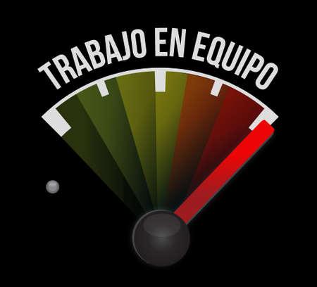 la union hace la fuerza: signo medidor de trabajo en equipo en Español ejemplo del diseño gráfico