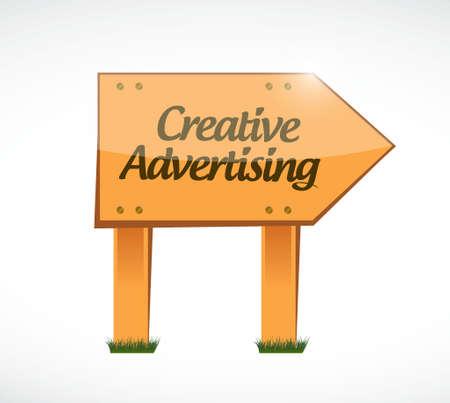 marketting: creative advertising wood sign illustration concept design graphic Illustration