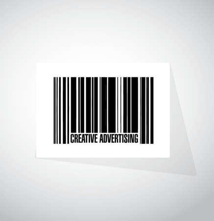 creatieve reclame streepjescode teken afbeelding conceptontwerp afbeelding