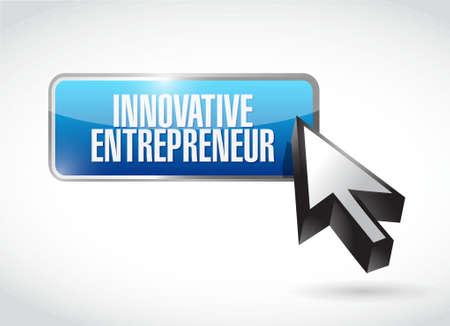 owner money: innovative entrepreneur button sign illustration design graph