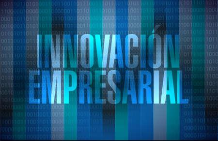 binary background: business innovation binary background sign in Spanish illustration design graphic Illustration
