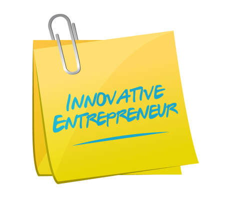 innovative entrepreneur memo sign illustration design graph