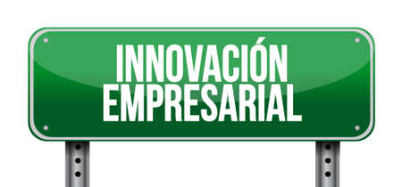 business innovation post sign in Spanish illustration design graphic