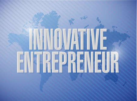 innovative entrepreneur world map sign illustration design graph Illustration