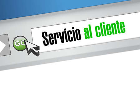 Customer service website sign in Spanish illustration design graphic