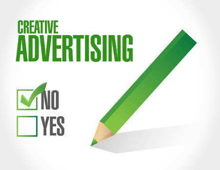 marketting: no creative advertising approval sign illustration concept design graphic