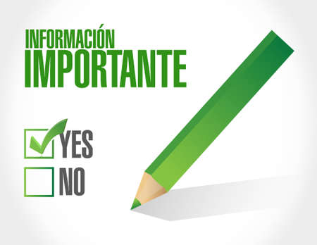 important: important information approval spanish sign illustration design graphic Illustration