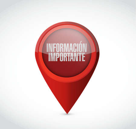 important: important information pointer sign in Spanish illustration design graphic