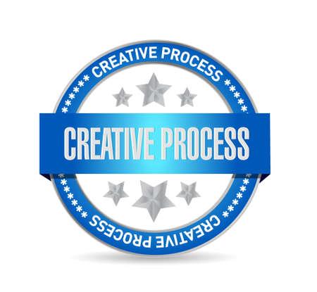 incubation: creative process seal sign concept illustration design graphic Illustration
