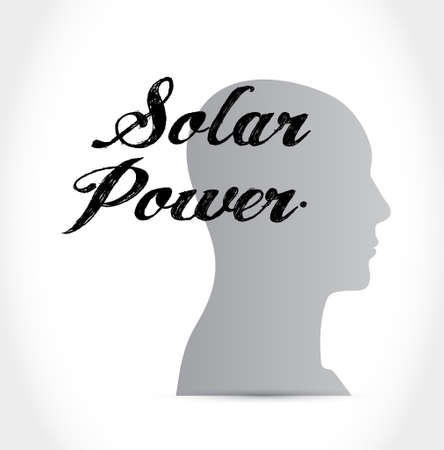 solar panel mind sign concept illustration design graphic Illustration