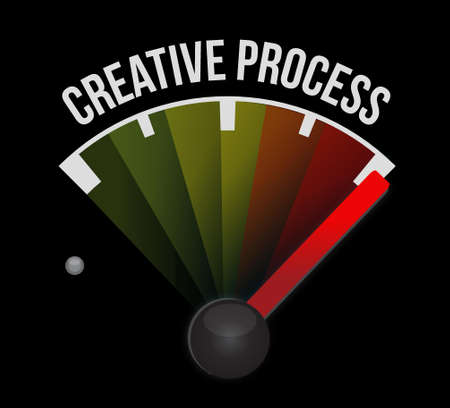 incubation: creative process meter sign concept illustration design graphic