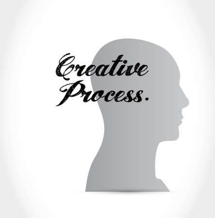 incubation: creative process thinking brain sign concept illustration design graphic Illustration