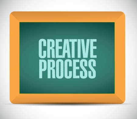 incubation: creative process chalkboard sign concept illustration design graphic