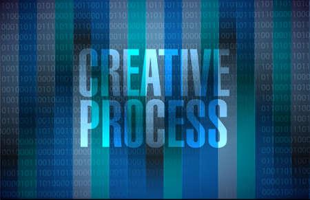 incubation: creative process binary background sign concept illustration design graphic