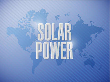 solar panel world map sign concept illustration design graphic