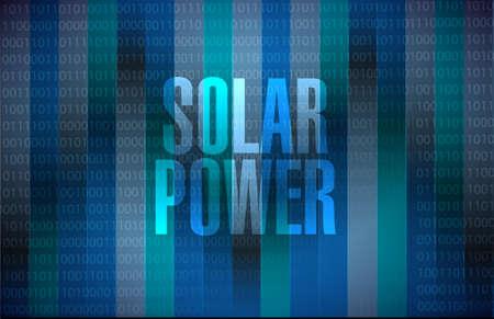 binary background: solar panel binary background sign concept illustration design graphic