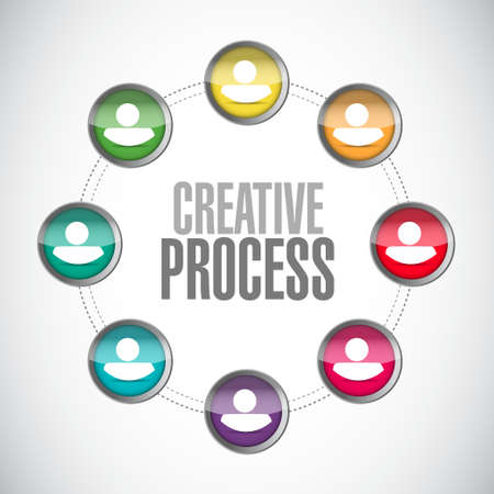 incubation: creative process people sign concept illustration design graphic
