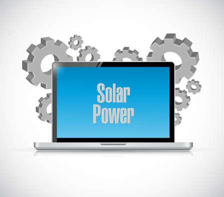solar panel computer sign concept illustration design graphic Illustration