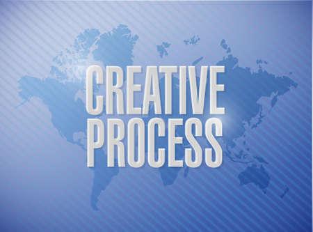 mapa de procesos: creativo proceso mundial muestra de la correspondencia ilustración del concepto de diseño gráfico