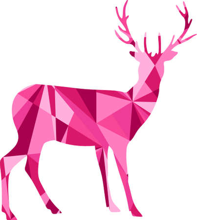 abstract illustration: deer and abstract shapes illustration design graphic