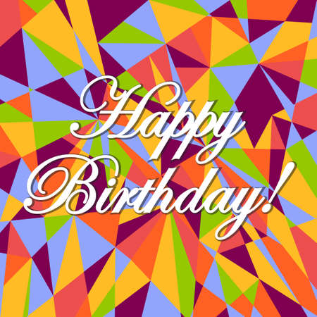 you figure: happy birthday abstract colors card pattern illustration design graphic background
