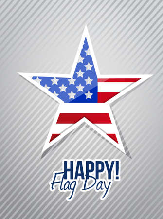 happy flag day us star illustration design graphic