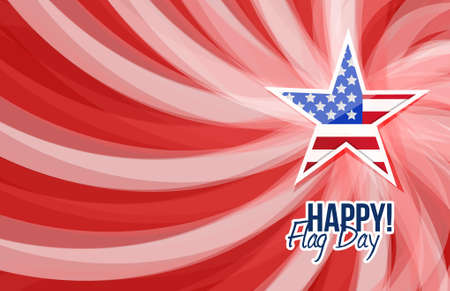happy flag day us star background illustration design graphic