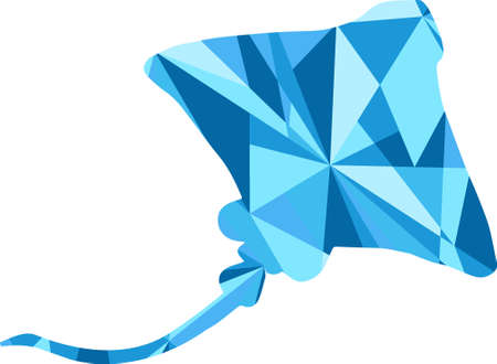 sean: blue stingray silhouette. animal with abstract design background